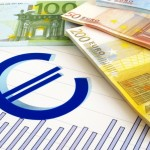EURO money and graph - business report